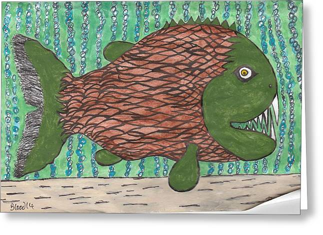 Top Seller Greeting Cards - Chomper Greeting Card by William Blood