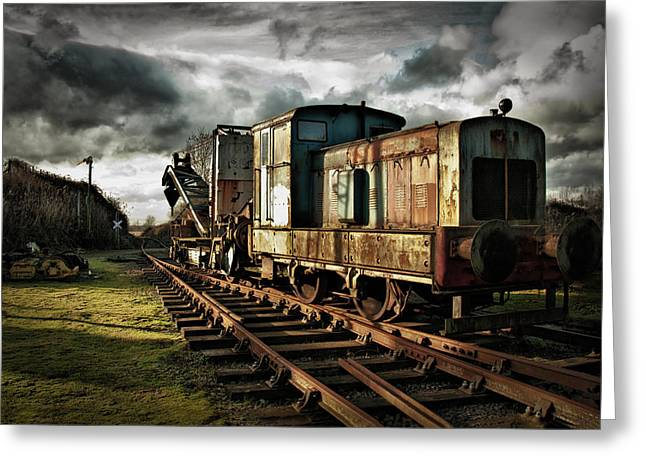 Giclée Fine Art Greeting Cards - Choo Choo Greeting Card by Jason Green