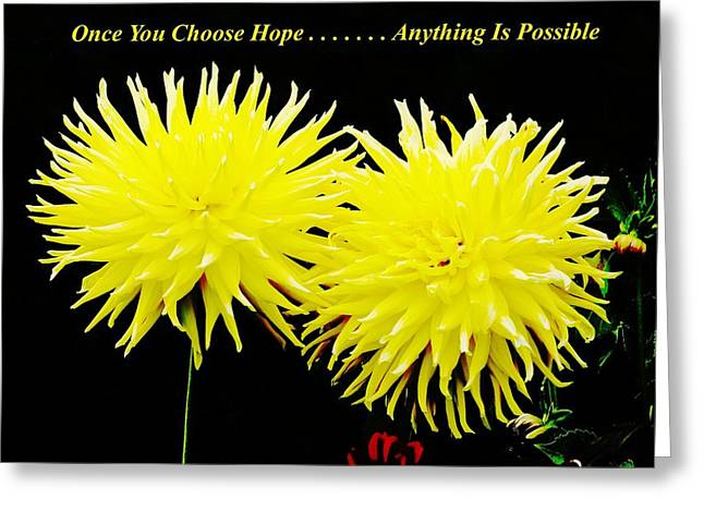 Choose Hope Greeting Card by Natalie Ortiz