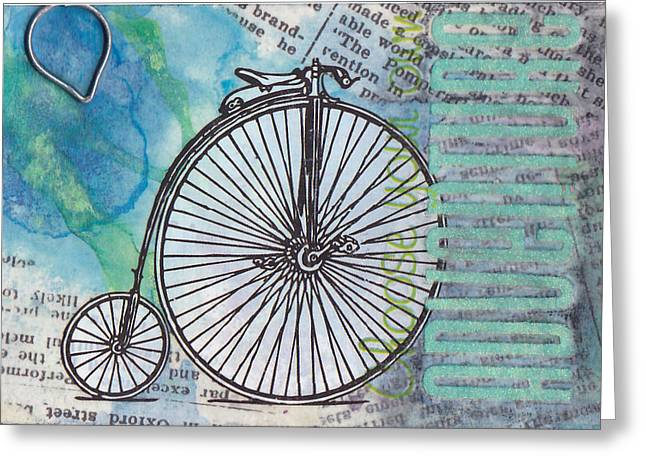 Choosing Mixed Media Greeting Cards - Choose Your Own Adventure Greeting Card by Patricia Wiggin - Wiggelhevin