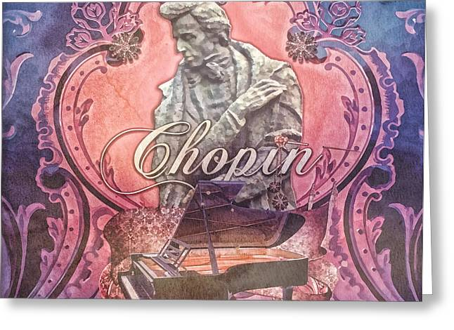 Recently Sold -  - Statue Portrait Greeting Cards - Chopin Greeting Card by Mo T
