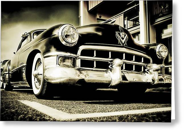 Chopped Cadillac Coupe Greeting Card by motography aka Phil Clark