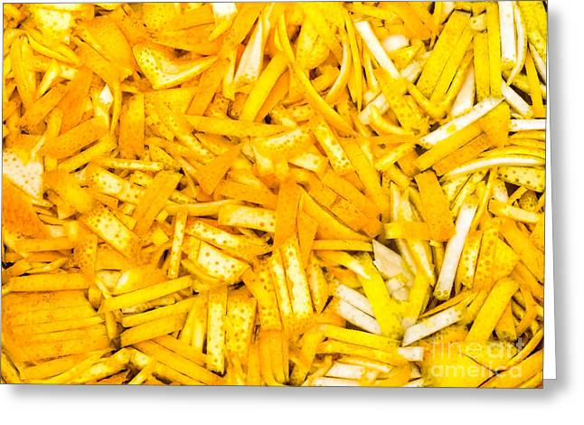 Grate Greeting Cards - Chopped orange and lemon zest Greeting Card by Frank Bach
