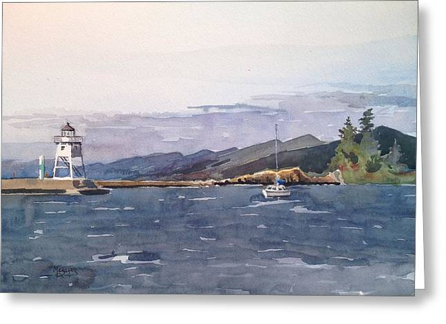 Choppy Waters Grand Marais Greeting Card by Spencer Meagher