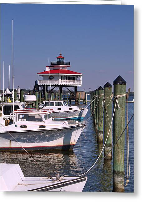 Sunset Greeting Cards Greeting Cards - Choptank River Lighthouse 4  Greeting Card by Francie Davis