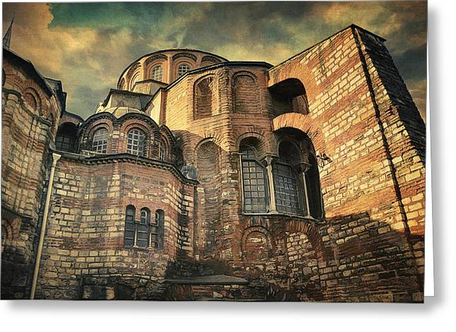 Old Wall Greeting Cards - Chora Church Greeting Card by Taylan Soyturk