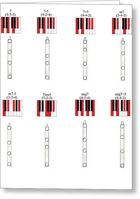 Giuliano Capogrossi Colognesi Greeting Cards - Chords 2 Greeting Card by Giuliano Capogrossi Colognesi