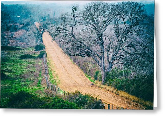 Speed Trap Greeting Cards - Chovanec Road Take Me Home - Ellinger Texas Greeting Card by Silvio Ligutti