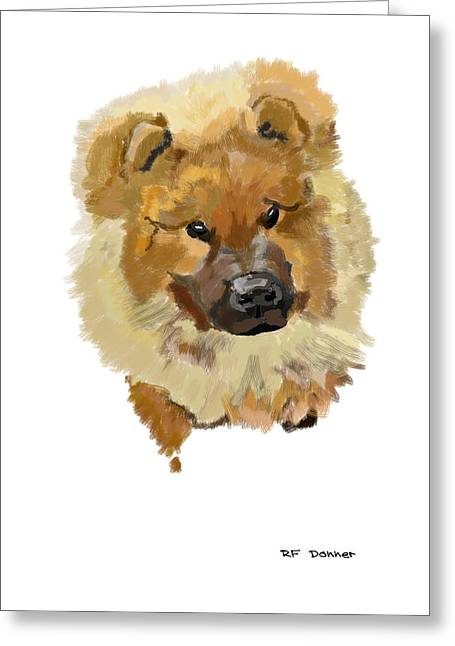 Owner Digital Greeting Cards - Chow chow Greeting Card by Bob Donner