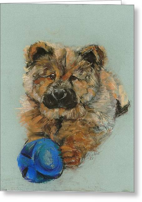 Puppies Pastels Greeting Cards - Chow chow  Greeting Card by Lana McCullars