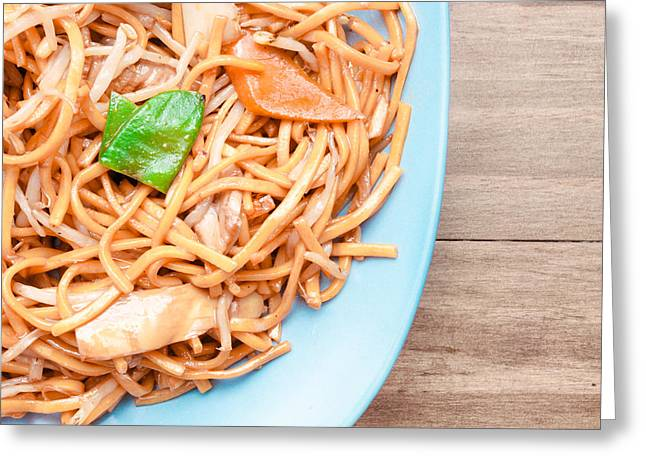 Take-out Photographs Greeting Cards - Chow mein Greeting Card by Tom Gowanlock