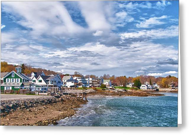 Chowder House Greeting Cards - Chowdah House 0225h Greeting Card by Guy Whiteley