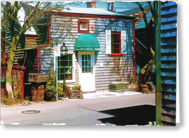 Chowder House Greeting Cards - Chowder House Rockport MA Greeting Card by Pachek