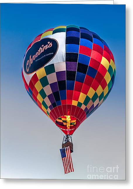 Chretin's Balloon Greeting Card by Robert Bales