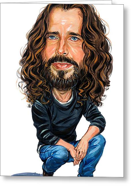 Awesome Greeting Cards - Chris Cornell Greeting Card by Art