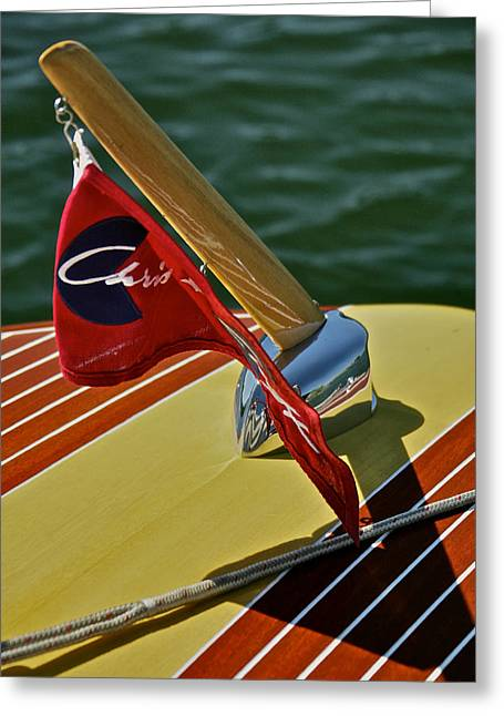 Runabout Greeting Cards - Chris Craft Classic Greeting Card by Steven Lapkin