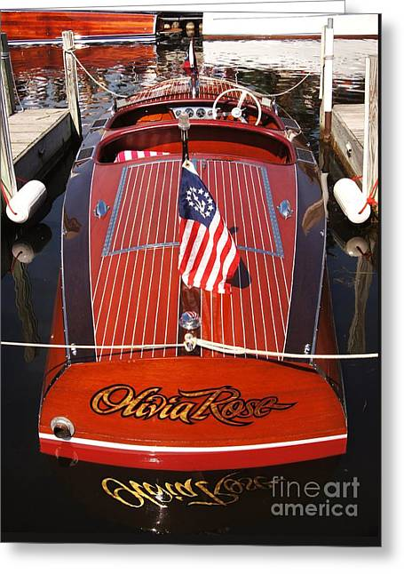 Chris Craft Custom Deluxe Greeting Card by Neil Zimmerman