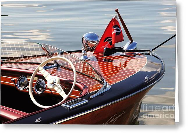 Chris Craft Deluxe Runabout Greeting Card by Neil Zimmerman