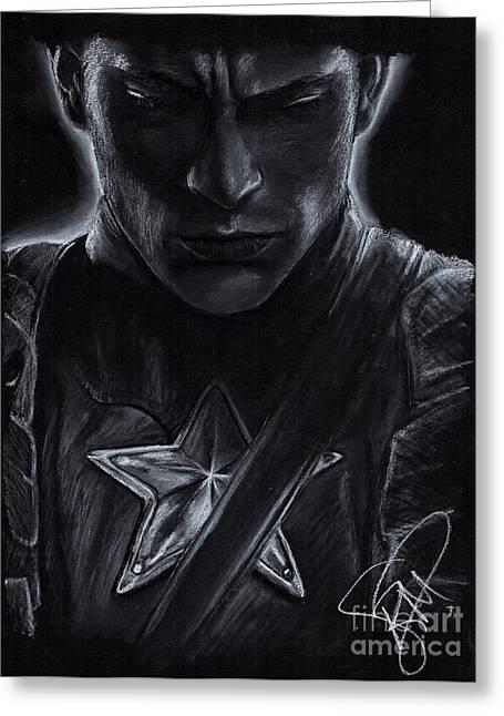 Avengers Drawings Greeting Cards - Chris Evans Greeting Card by Rosalinda Markle