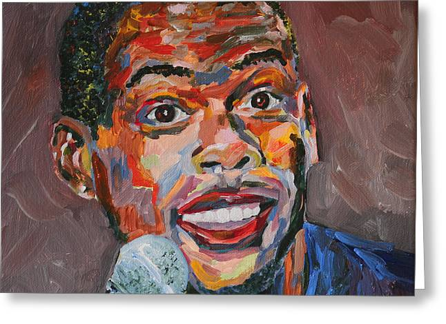 Chris Rock Portrait Greeting Card by Robert Yaeger