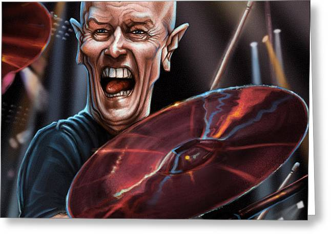 Wacom Greeting Cards - Chris Slade Greeting Card by Andre Koekemoer