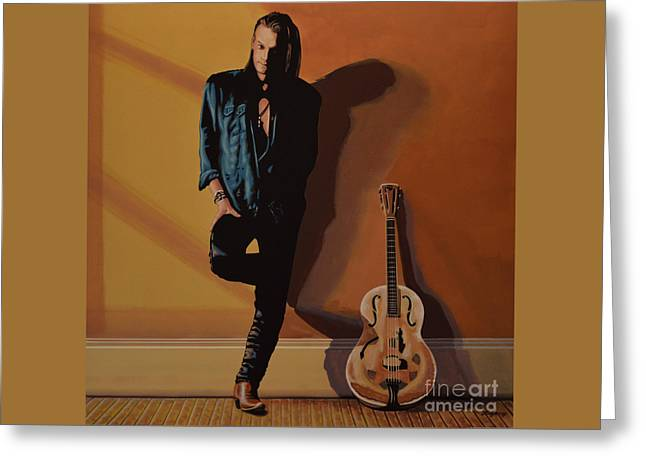 Chris Whitley Greeting Card by Paul Meijering