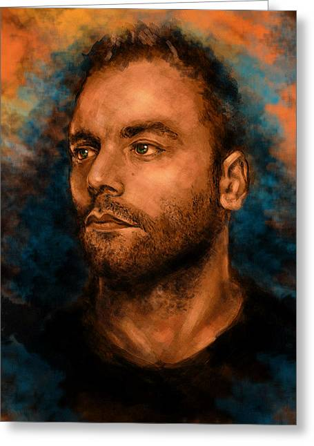 Second Hole Greeting Cards - Chris Wolstenholme Greeting Card by J England