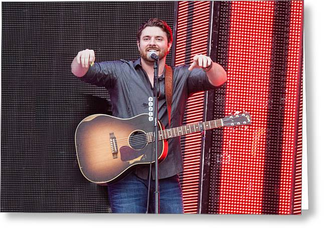 Live Music Greeting Cards - Chris Young Greeting Card by Mike Burgquist