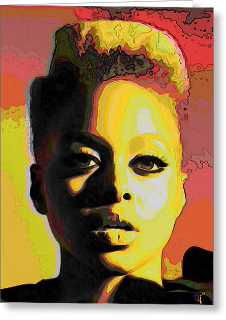 Michelle Greeting Cards - Chrisette Michele 2 Greeting Card by  Fli Art