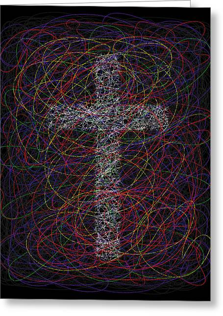 Deliverance Greeting Cards - Christ Alone Greeting Card by Nth Alien