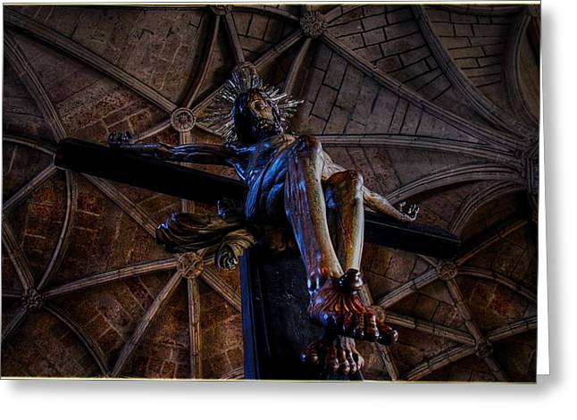 Christ Sculptures Greeting Cards - Christ Greeting Card by Arnaud De Vries
