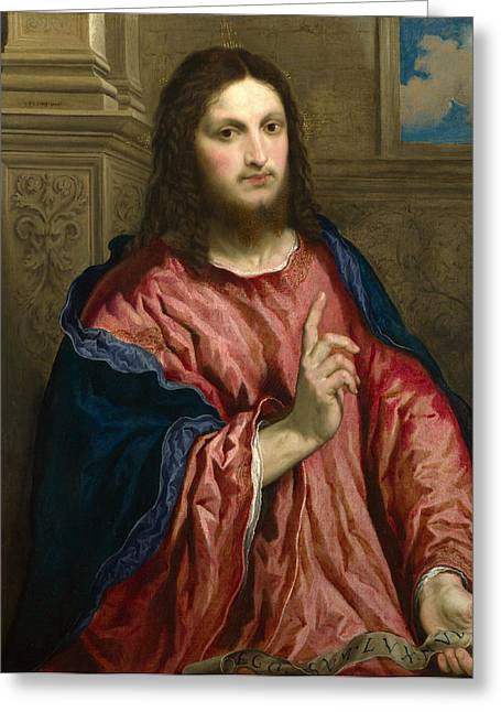 Light Of The World Greeting Cards - Christ as The Light of the World Greeting Card by Paris Bordone