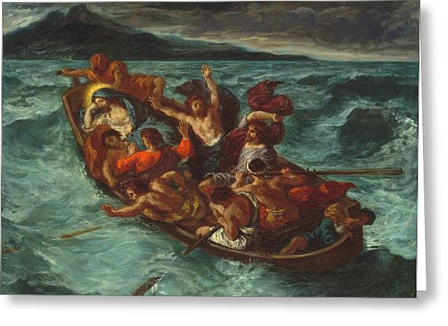 New York The Metropolitan Museum Of Art Greeting Cards - Christ Asleep during the Tempest Greeting Card by Eugene Delacroix