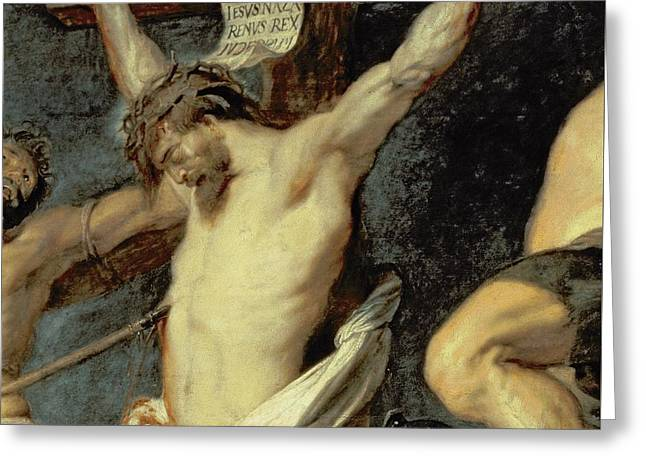 Christ Between The Two Thieves, 1620 Greeting Card by Peter Paul Rubens