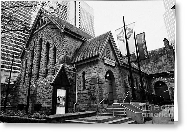 Old Christ Church Greeting Cards - Christ Church Anglican Cathedral Vancouver BC Canada Greeting Card by Joe Fox