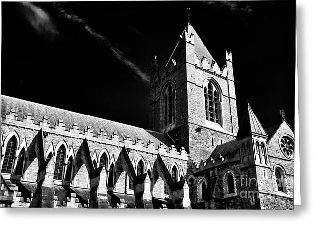 Old Christ Church Greeting Cards - Christ Church Architecture Greeting Card by John Rizzuto