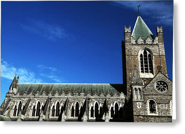 Old Christ Church Greeting Cards - Christ Church Cathedral Greeting Card by John Rizzuto