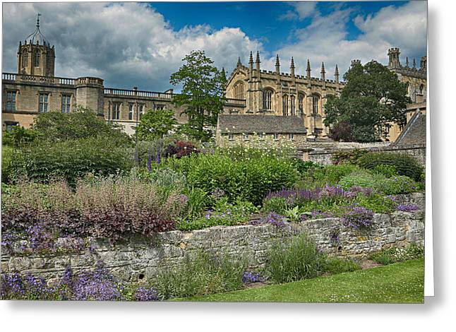 Old Christ Church Greeting Cards - Christ Church College Gardens Greeting Card by Stephen Stookey