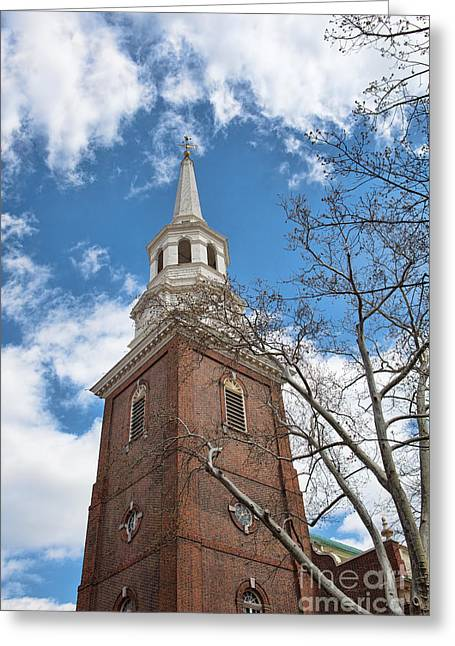Quaker Greeting Cards - Christ Church Steeple Greeting Card by Kay Pickens