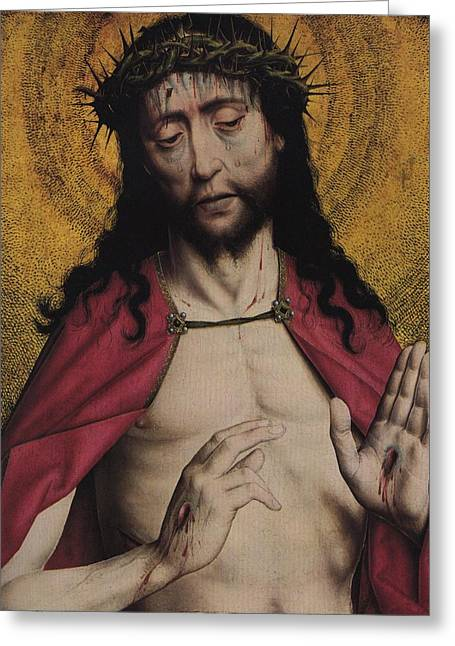 Book Of Daniel Greeting Cards - Christ Crowned with Thorns Greeting Card by American Classic Visions Gallery