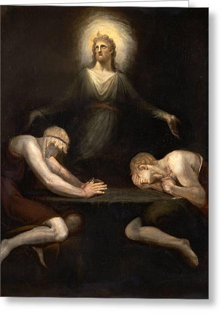 Henry Fuseli Greeting Cards - Christ Disappearing at Emmaus Greeting Card by Henry Fuseli