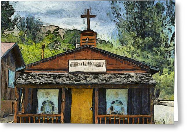 Religious Art Photographs Greeting Cards - Christ Fellowship Wofford Heights Greeting Card by Barbara Snyder
