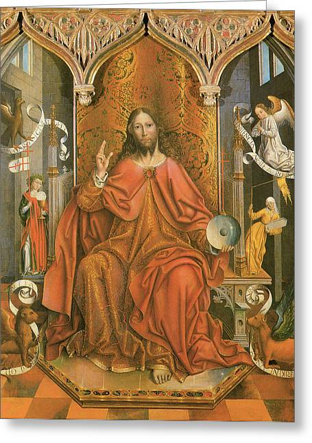 Fernando Greeting Cards - Christ Giving the Blessing Greeting Card by Fernando Gallego