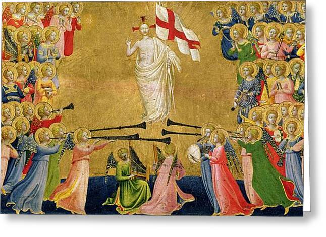 Faith Greeting Cards - Christ Glorified in the Court of Heaven Greeting Card by Fra Angelico