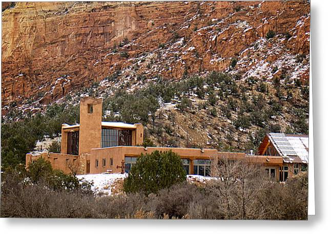 Chama River Greeting Cards - Christ In The Desert Monastery Greeting Card by Mary Lee Dereske