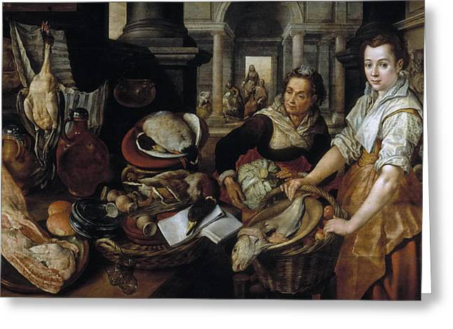 The Houses Greeting Cards - Christ in the House of Martha and Mary Greeting Card by Joachim Beuckelaer