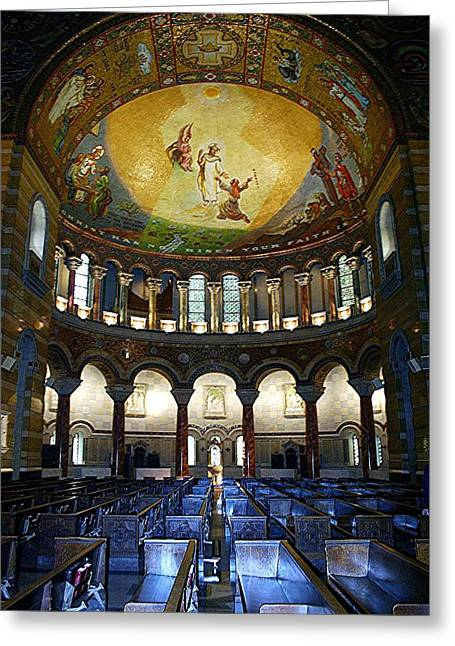 Pentecost Greeting Cards - Christ is Risen II - St Louis Basilica Greeting Card by Thia Stover