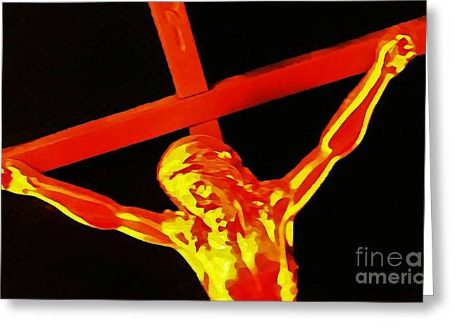 Johnmaloneartist.com Greeting Cards - Christ Greeting Card by John Malone