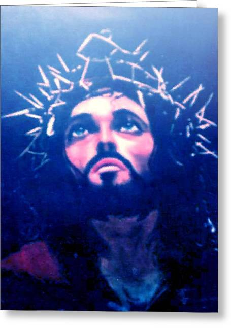 Condemned Paintings Greeting Cards - Christ Greeting Card by Oliver McParland