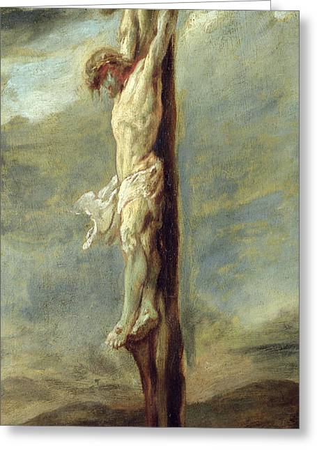 Christian Poster Greeting Cards - Christ on the Cross Greeting Card by Rubens